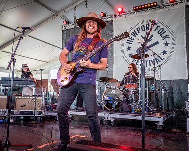 Lukas Nelson performs during the 60th annual Newport Folk Festival 2019 at Fort Adams State Park in Newport RI.