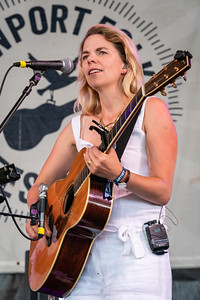 """Aoife O'Donovan of """"I'm with Her"""" perform during the 60th annual Newport Folk Festival 2019 at Fort Adams State Park in Newport RI."""