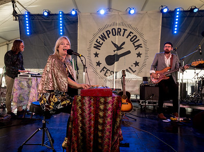 Basia Bulat performs during the Newport Folk Festival 2016 at Fort Adams State Park in Newport RI.