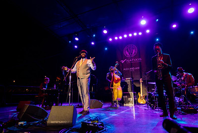 Gregory Porter performs during the Newport Jazz Festival 2016 at The International Tennis Hall of Fame in Newport Rhode Island.