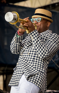 Etienne Charles performs during the Newport Jazz Festival 2016 at Fort Adams State Park in Newport Rhode Island.