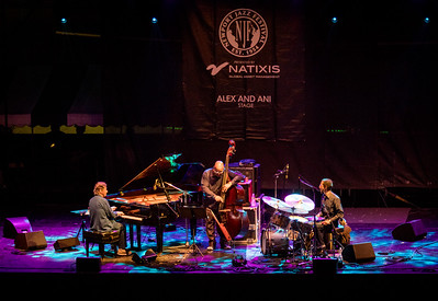 Chick Corea, Christian McBride and  Brian Blade perform as the Chick Corea Trilogy during the Newport Jazz Festival 2016 at The International Tennis Hall of Fame in Newport Rhode Island.