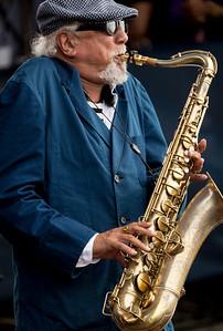 Charles Lloyd performs during the Newport Jazz Festival 2016 at Fort Adams State Park in Newport Rhode Island.