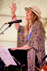 Tierney Sutton  performs during the Newport Jazz Festival 2016 at Fort Adams State Park in Newport Rhode Island.