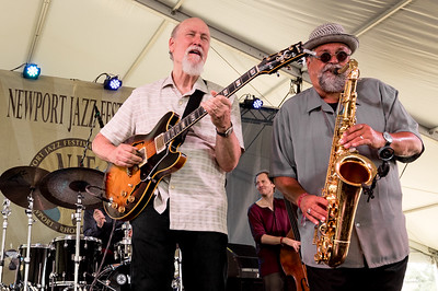 The John Scofield/Joe Lovano Quartet performs during the Newport Jazz Festival 2016 at Fort Adams State Park in Newport RI.