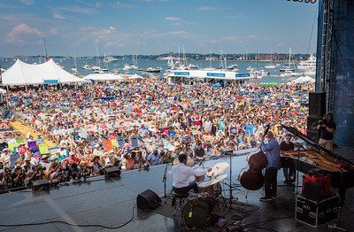 Chick Corea Trilogy performs during the Newport Jazz Festival 2016 at Fort Adams State Park in Newport RI.