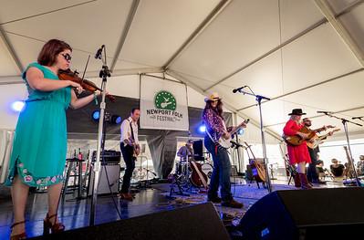 Freakwater performs during the Newport Folk Festival 2016 at Fort Adams State Park in Newport RI.