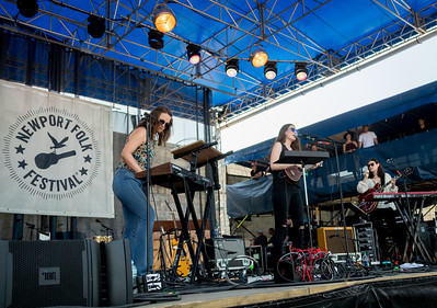 The Staves perform during the Newport Folk Festival 2016 at Fort Adams State Park in Newport RI.