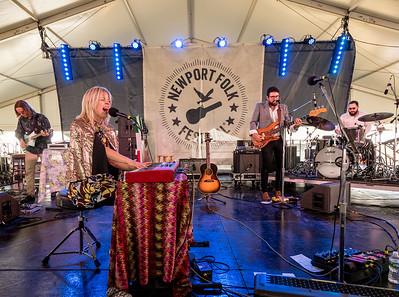 Basia Bulat performs during the Newport Folk Festival 2016 at Fort Adams State Park in Newport RI.