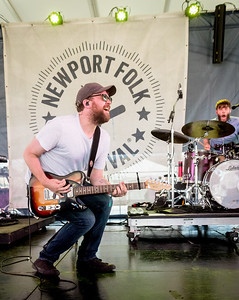 Scott Hutchison of Frightened Rabbit performs during the Newport Folk Festival 2016 at Fort Adams State Park in Newport RI.