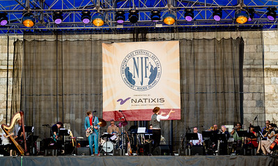 Nelis Cline performs during the Newport Jazz Festival 2016 at Fort Adams State Park in Newport Rhode Island.