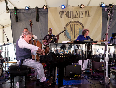 Monty Alexander Harlem-Kingston Express performs during the Newport Jazz Festival 2016 at Fort Adams State Park in Newport RI.
