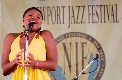 Lizz Wright performs during the Newport Jazz Festival 2016 at Fort Adams State Park in Newport Rhode Island.