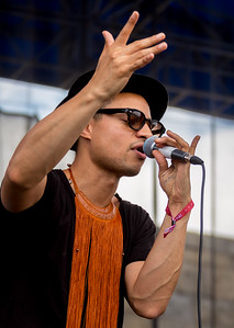 Jose James performs during the Newport Jazz Festival 2016 at Fort Adams State Park in Newport Rhode Island.
