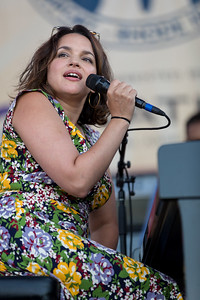 Nora Jones performs during the Newport Jazz Festival 2016 at Fort Adams State Park in Newport RI.