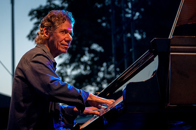 Chick Corea, of the Chick Corea Trilogy during the Newport Jazz Festival 2016 at The International Tennis Hall of Fame in Newport Rhode Island.