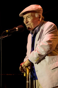 George Wein during the Newport Jazz Festival 2016 at The International Tennis Hall of Fame in Newport Rhode Island.