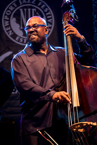 Christian McBride and  Brian Blade perform with perform as the Chick Corea Trilogy during the Newport Jazz Festival 2016 at The International Tennis Hall of Fame in Newport Rhode Island.