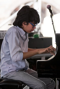 Joey Alexander performs during the Newport Jazz Festival 2016 at Fort Adams State Park in Newport RI.