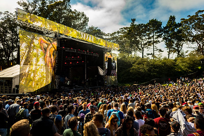 Foals performs on the Sutro Stage during the Outside Lands Music Festival 2016 in Golden Gate Park, San Francisco California.