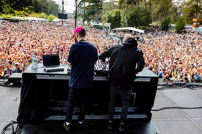 Snakehips performs during the Outside Lands Music Festival 2016 in Golden Gate State Park, San Francisco CA.
