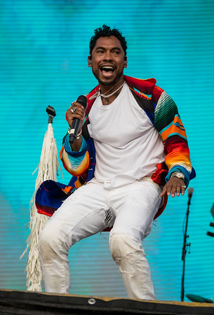 Miguel performs during the Outside Lands Music Festival 2016 in Golden Gate State Park, San Francisco CA.