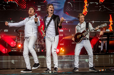 Duran Duran performs during the Outside Lands Music Festival 2016 in Golden Gate Park, San Francisco California.