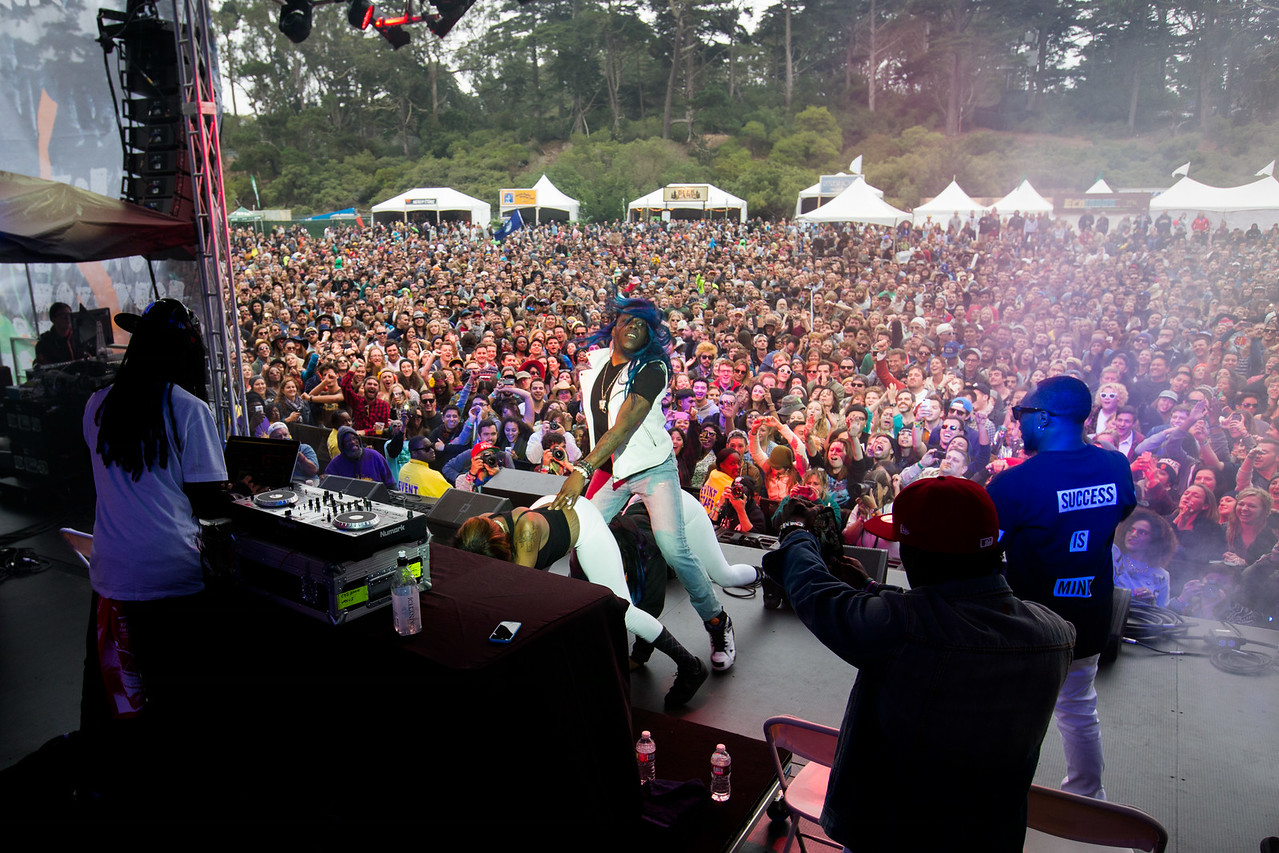 Big Freedia performs during the Outside Lands Music and Arts Festival 2014 in Golden Gate Park, Sanfrancisco CA.