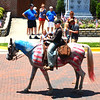 Diane Raver | The Herald-Tribune<br /> This horse even dressed in patriotic garb for the festivities.