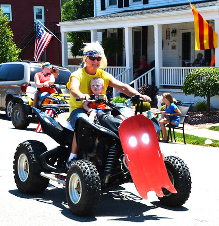 Diane Raver   The Herald-Tribune<br /> One of the Pac-Man ghosts rode on front of this four-wheeler.