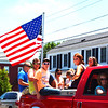 "Diane Raver | The Herald-Tribune<br /> ""Old Glory"" was seen throughout the procession."