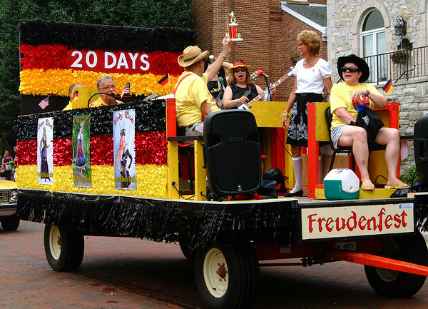 Debbie Blank | The Herald-Tribune<br /> THE FREUDENFEST float, chaired by Paul Brockman, was named Best Oddity in the annual parade.
