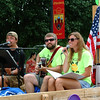 "Debbie Blank | The Herald-Tribune<br /> MELODIC: Zach Broering (from left), Tom Weberding and Emily Weberding  of the band SPORKS (Sometimes Popular Otherwise Ridiculous Kind of Songs) celebrate the 10th year of the Beer Drinkers Frisbee Golf Association. ""We have probably 100 on the e-mail list. It's a pretty big group,"" reports Tom Weberding."