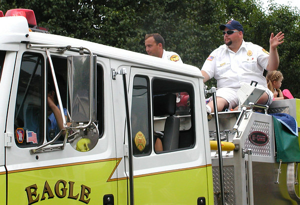 Debbie Blank | The Herald-Tribune<br /> EAGLE FIRE CO. volunteers work hard on their annual fundraiser.