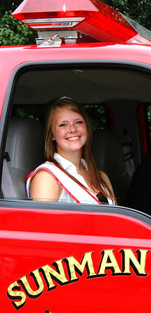 Debbie Blank | The Herald-Tribune<br /> DISTRICT 19 Miss Flame, Alyssa Knueven, 15, Sunman, was one special guest appearing in the procession.