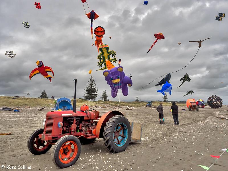 Otaki Kite Festival, Otaki Beach, Kapiti, 5 March 2016