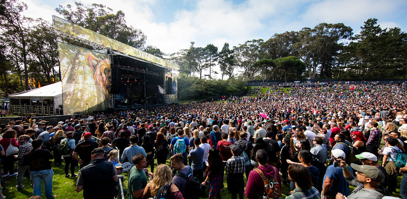 performs during the Outside Lands Music Festival 2016 in Golden Gate Park, San Francisco California.