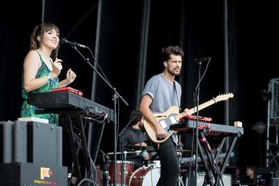 Oh Wonder performs during the Outside Lands Music Festival 2016 in Golden Gate State Park, San Francisco CA.