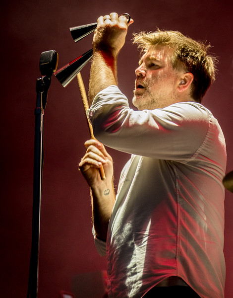 LCD Sound System performs during the Outside Lands Music Festival 2016 in Golden Gate Park, San Francisco California.