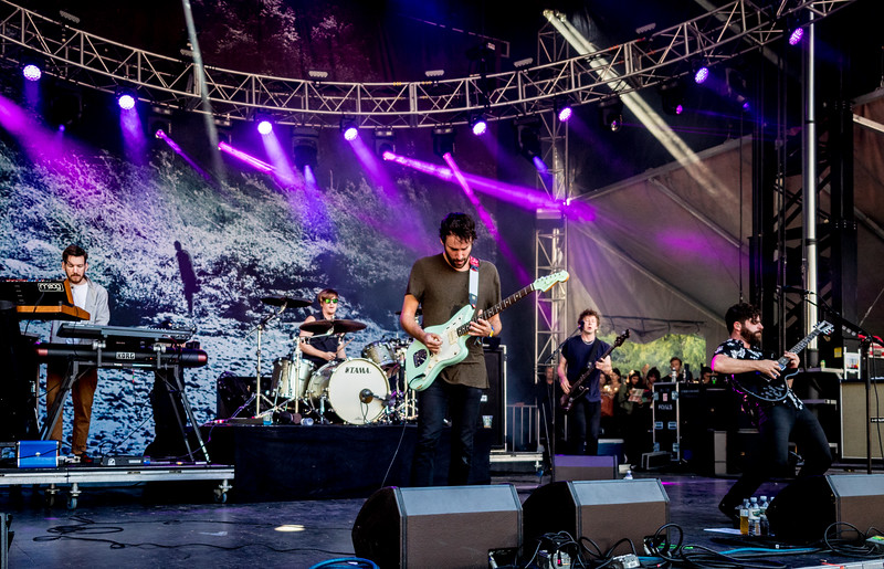 Foals performs during the Outside Lands Music Festival 2016 in Golden Gate Park, San Francisco California.