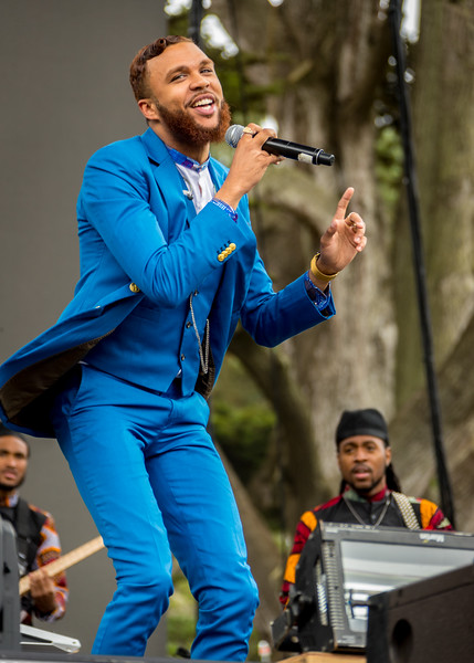 Jidenna performs during the Outside Lands Music Festival 2016 in Golden Gate Park, San Francisco California.