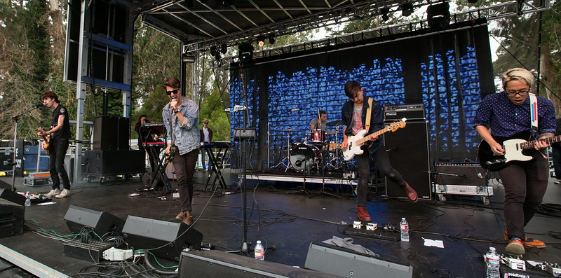 Finish Ticket performs during the Outside Lands Music and Arts Festival 2014 in Golden Gate Park, Sanfrancisco CA. Brendan Hoye, singer   Michael Hoye, bass   Gabe Stein, drums   Nick Stein, keys   Alex DiDonato, guitar   Crim Nguyen, guitar.