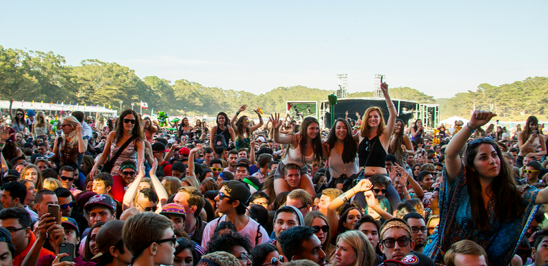 Chromeo performs during the Outside Lands Music and Arts Festival 2014 in Golden Gate Park, Sanfrancisco CA.