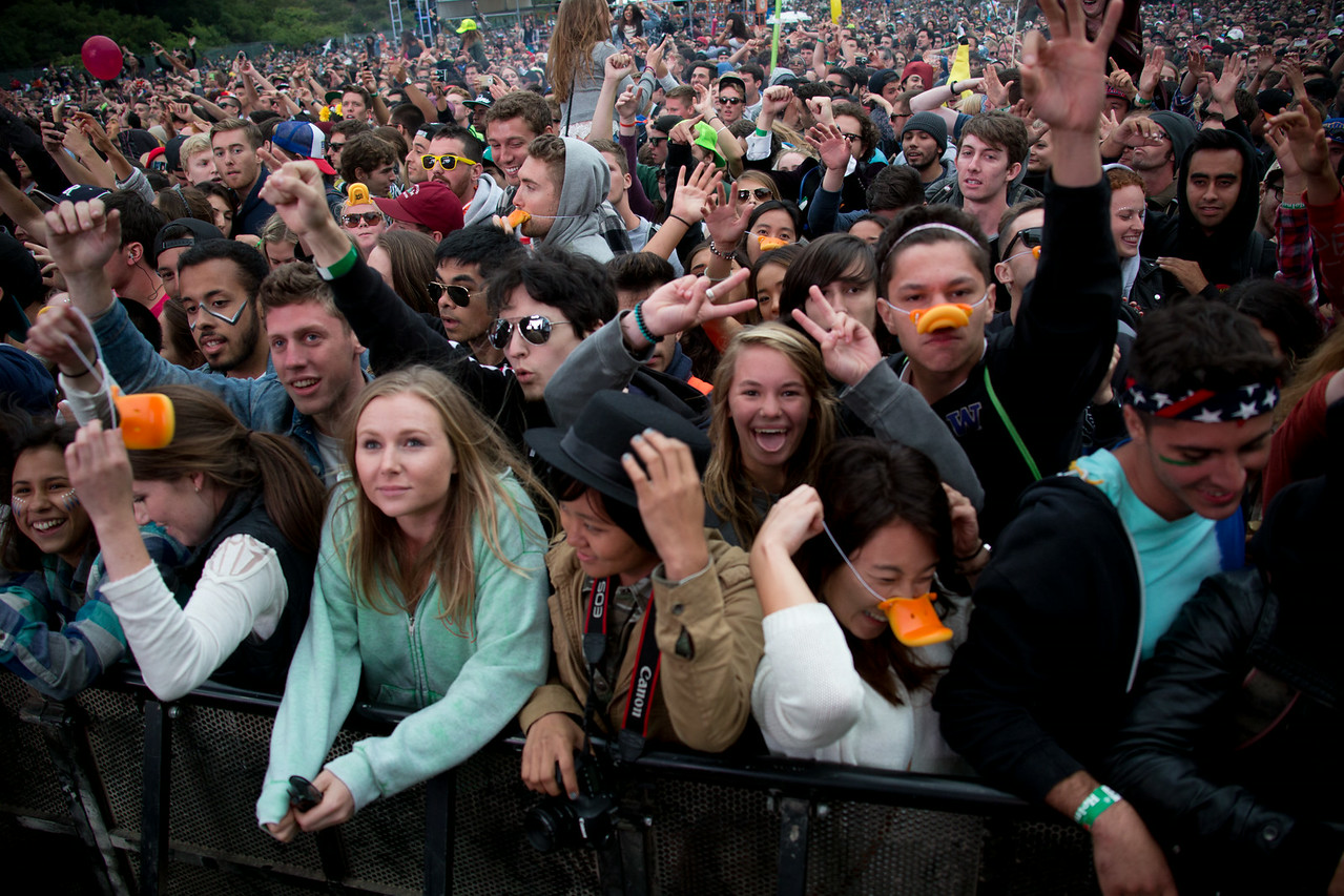 Duck Sauce performs during the Outside Lands Music and Arts Festival 2014 in Golden Gate Park, Sanfrancisco CA.