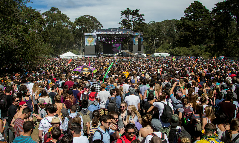 Flume performs during the Outside Lands Music and Arts Festival 2014 in Golden Gate Park, Sanfrancisco CA.