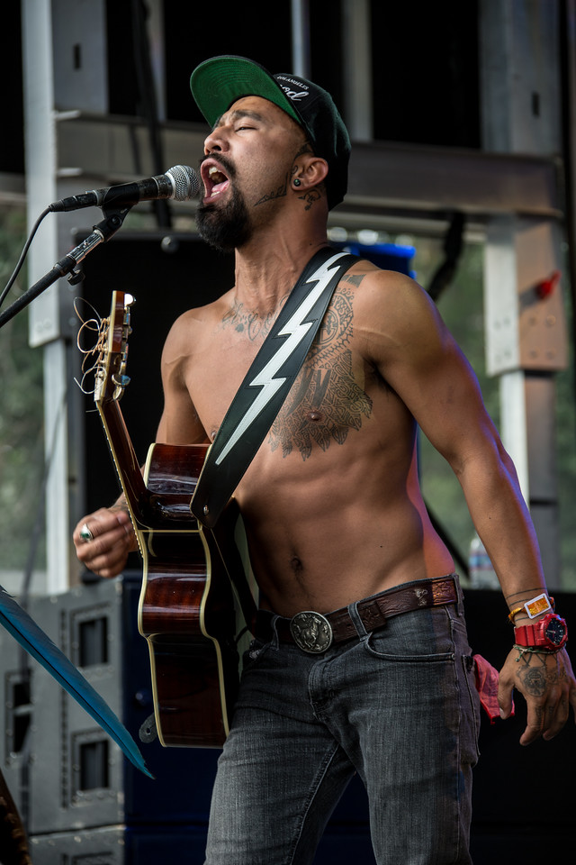 Nahko And Medicine For The People perform during the Outside Lands Music and Arts Festival 2014 in Golden Gate Park, Sanfrancisco CA.