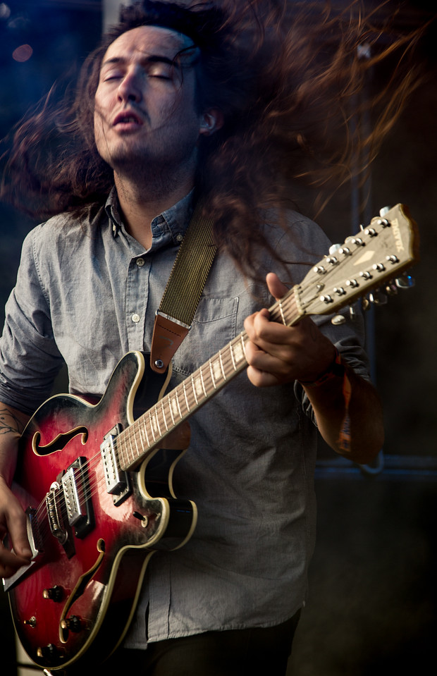 Mikal Cronin performs during the Outside Lands Music and Arts Festival 2014 in Golden Gate Park, Sanfrancisco CA.