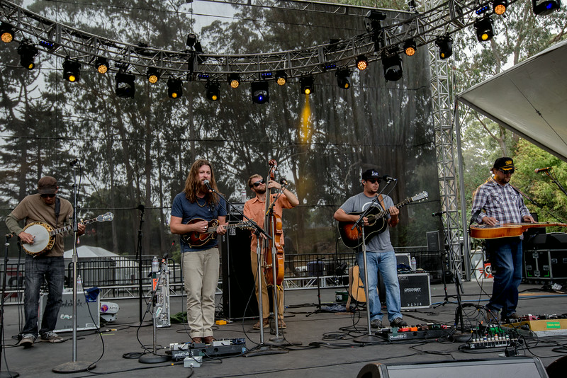 Greensky Bluegrass performs during the Outside Lands Music and Arts Festival 2014 in Golden Gate Park, Sanfrancisco CA.