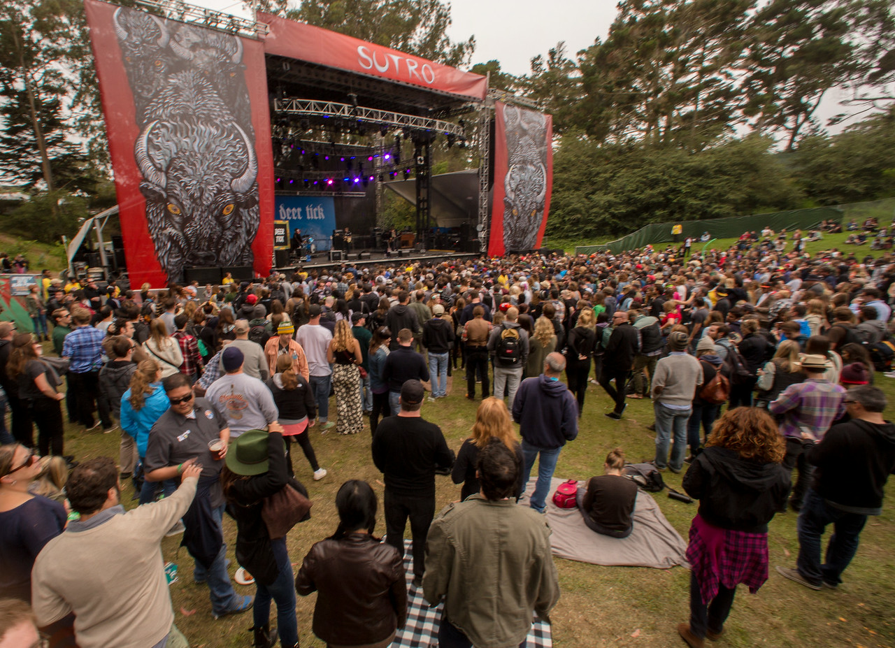 Deer Tick performs during the Outside Lands Music and Arts Festival 2014 in Golden Gate Park, Sanfrancisco CA.