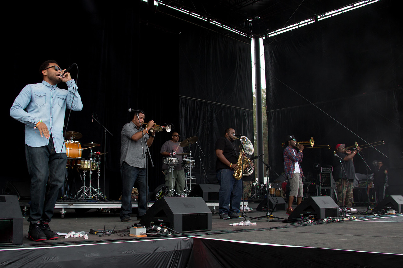 Soul Rebels perform during the Outside Lands Music and Arts Festival 2014 in Golden Gate Park, Sanfrancisco CA.